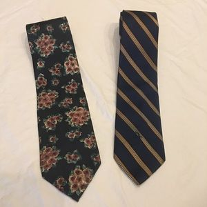 TWO Christian Dior Silk Ties